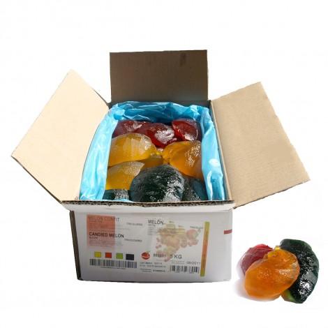 Tranches de melon confit tricolore