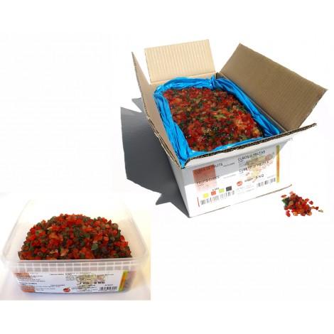 Cubes de fruits confits tricolores 5 kg