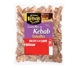 Lamelles de kebab volailles rôties et grillées à la flamme 850 g