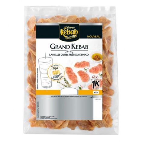 Lamelles de kebab volailles veau déjà rôties 850g