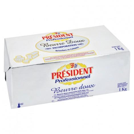 Beurre doux incorporation 82% Bloc 1 kg