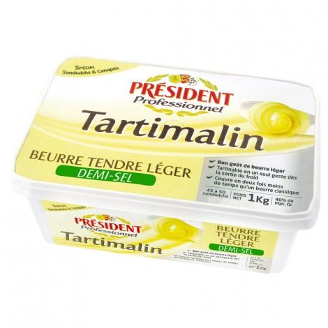 Tartimalin Beurre tendre léger demi-sel 1 kg