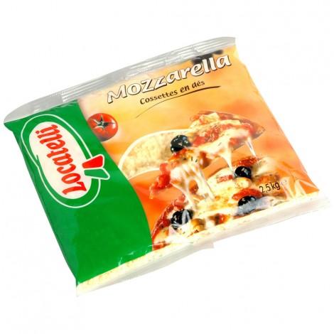 Mozzarella Locatelli en cossettes sac 2,5 kg
