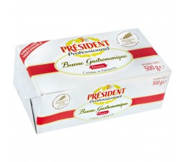Beurre doux Gastronomique Plaquette 500 g
