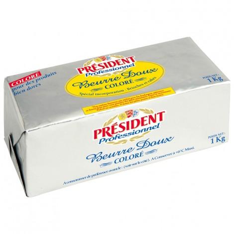 Beurre Doux incorporation coloré Bloc 1 kg