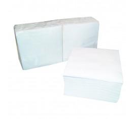 Serviettes papier blanc 1 pli 30x30 cm