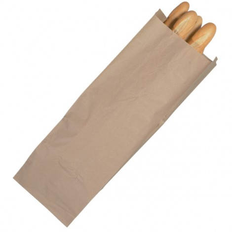 Sacs de regroupement kraft brun semi extensible 30 + 20 x 90 cm