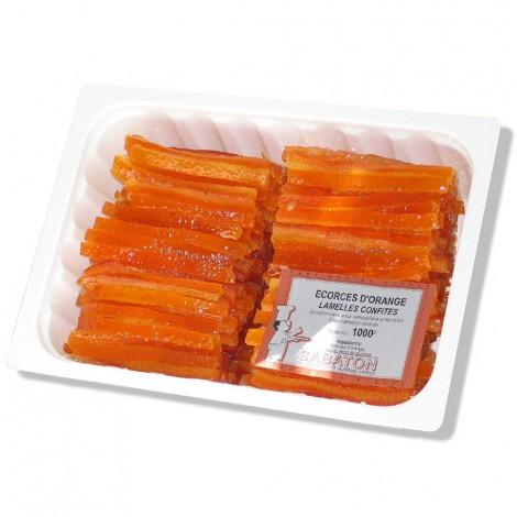 Ecorces d'oranges confites en lamelles