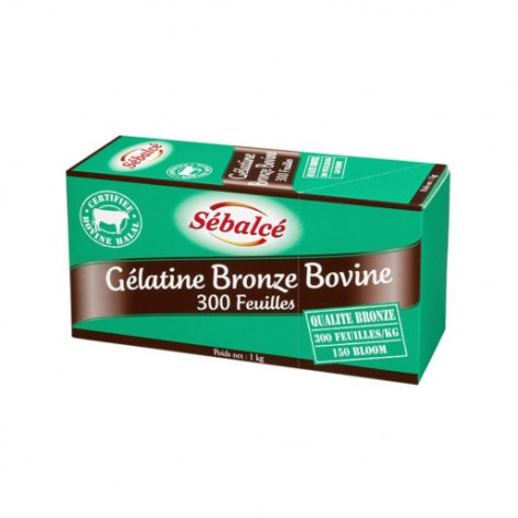 Gélifiant et stabilisant BRONZE BOVINE 300 FEUILLES