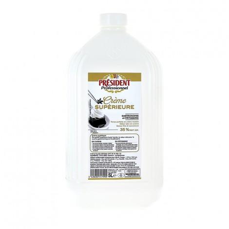 Crème Supérieure 35% en bouteille de 5 L