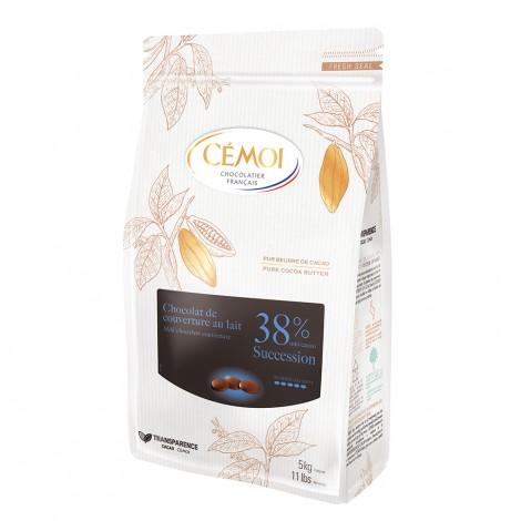 Chocolat de couverture Lacté 38% Succession Cémoi
