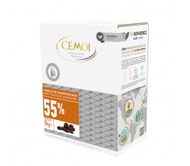 Chocolat de couverture Noir 55% Tradition Cémoi