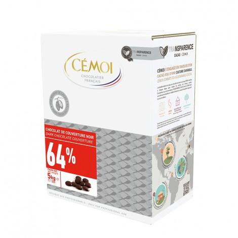 Chocolat de couverture Noir 64% Tradition Cémoi