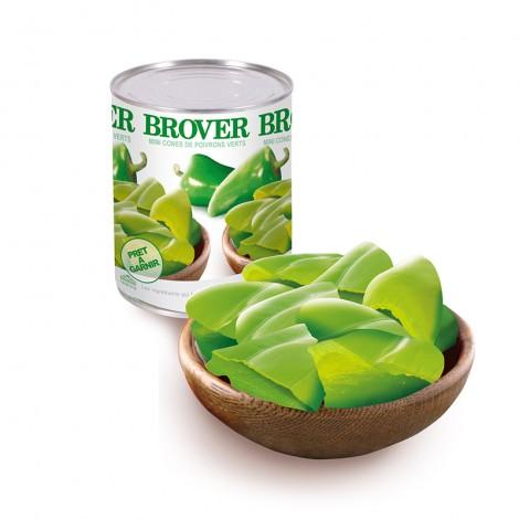 Mini cones de poivrons verts