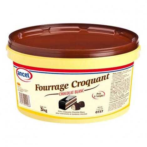 Fourrage croquant chocolat blanc