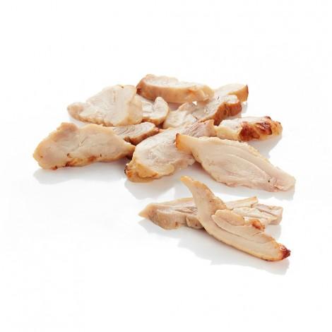 Emincés de cuisse de poulet rôti