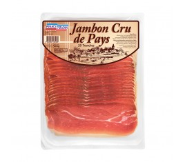 Jambon cru de pays 20 tranches fines avec intercalaires